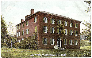 Memorial Hall Museum, from a period postcard