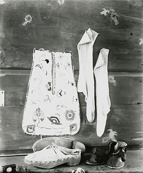 Photograph of Shoes, Stockings and Pocket