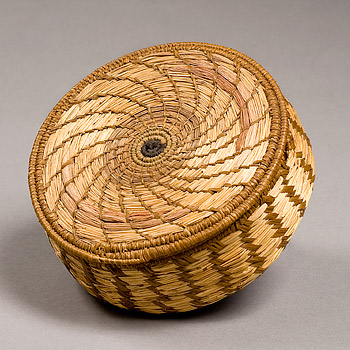 Raffia and Sweet grass basket