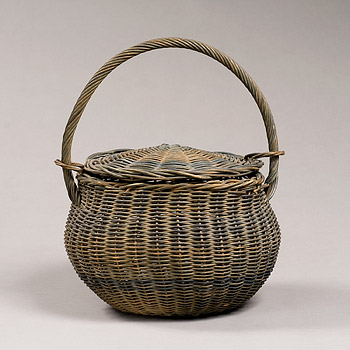 Reed Basket with Cover