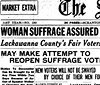 newspaper announces vote for women